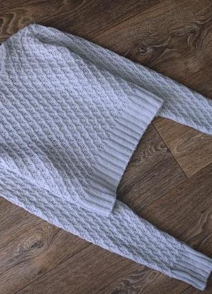 Укороченный фактурный свитер гольф кроп топ от boohoo