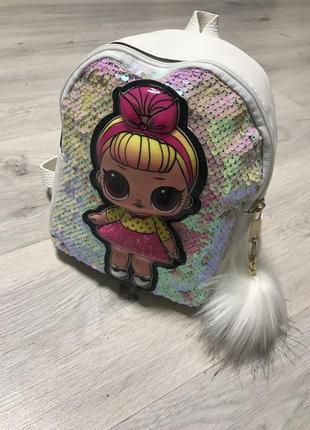 Новый стильный рюкзачок с куклой лол