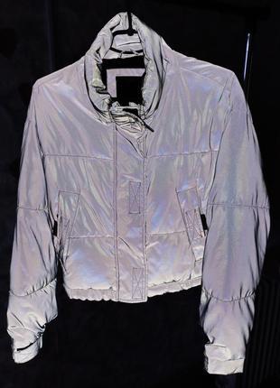 Рефлективная куртка укороченная