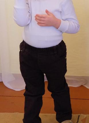 Джинсы утепленные флисом, теплые штаны на мальчика рост 110