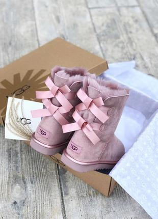 Ugg bailey bow pink ii натуральные женские зимние сапоги угги ...
