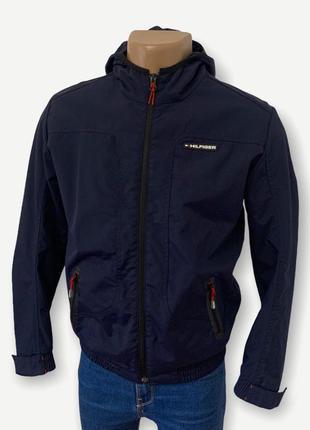 Куртка ветровка tommy hilfiger мужская оригинал синяя