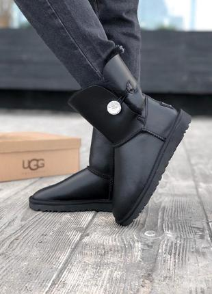 Ugg bailey button ii black натуральные женские зимние сапоги у...