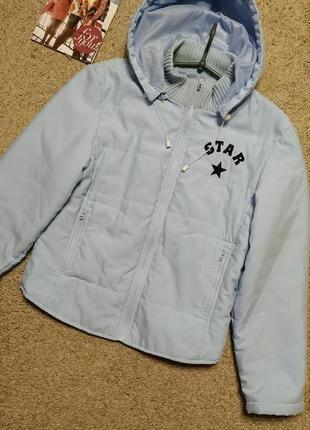 Демисезоннаяя курточка небесно-голубого цвета
