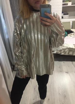 Золотистая блузка h&m