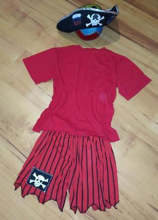 Карнавальный новогодний костюм пирата на 8-9 лет