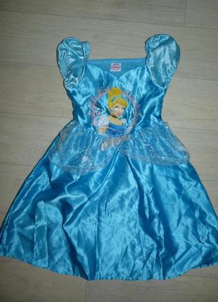 Карнавальное платье золушки от disney 3-4 года