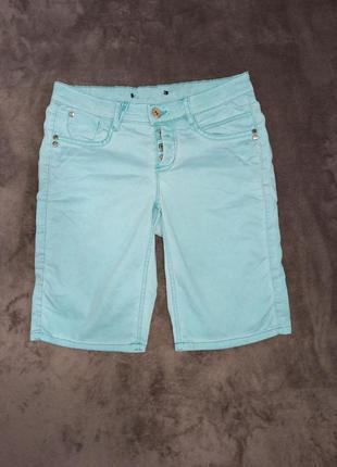 Шорты бриджи джинсовые на мальчика 12-14
