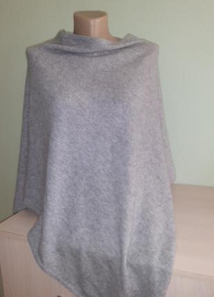 Кашемировая накидка, пончо katestorm, шерсть/кашемир