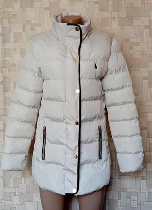 Стильная белая куртка ralph lauren
