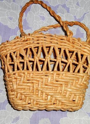 Соломенная, плетеная сумка, сумочка, корзина