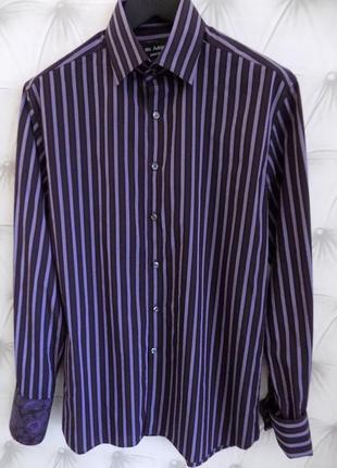 Современая стильная мужская рубашка с запонками