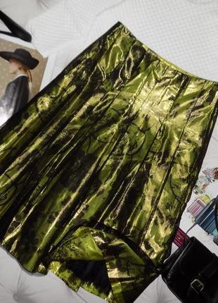 Нарядная шёлковая юбка на фатине