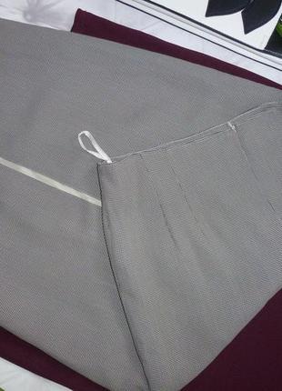 Винтажная юбка миди с разрезом