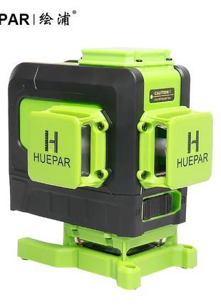 Лазерный 3D уровень Huepar 903DG нивелир зеленый луч Osram