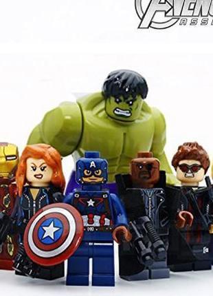 Фигурки супергерои Мстители Marvel совместимы с Lego