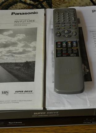 PANASONIC NV-FJ712 - стерео видеомагнитофон.