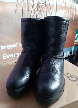 Быстрая продажа!ботинки сапоги зимние угги ugg  кожа натуральн...