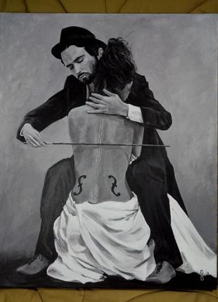 """Картина акрилом """"la musica"""""""