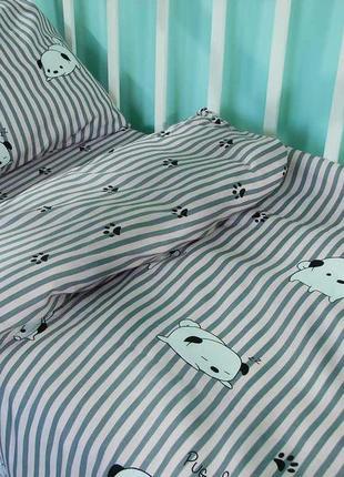 Постельное белье из сатина «щенки», в кроватку, подростковый, ...