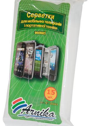 /Салфетки для мобильных телефонов и портативной техники 15 шт/...