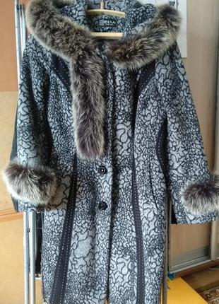 Пальто зимнее женское размер 46