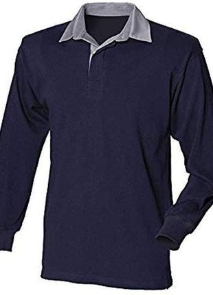 Мужской свитер поло с белым воротником