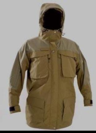 Фирменная легкая куртка парка цвета хаки totel fishing gear xl