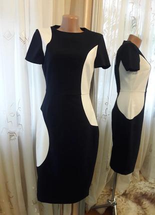 Большой выбор платьев. платье миди футляр комбинированной расц...