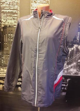 Спортивная куртка ветровка жилетка 2 в 1