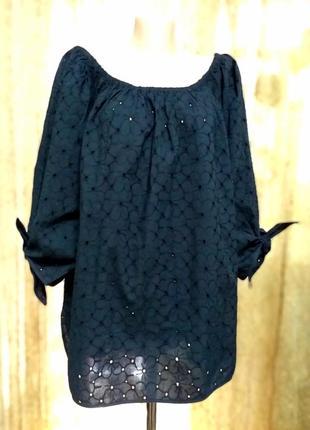 Легкие блузы из вышитой прошвы