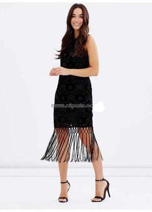 Бархатное платье в винтажном стиле с бахромой