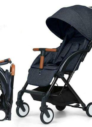 Детская прогулочная коляска Aby IndiGo 717 black