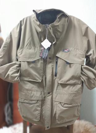 Фирменная куртка парка хаки total fishing gear