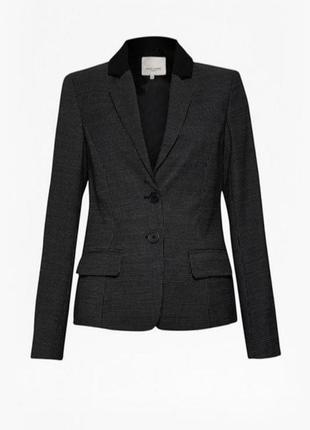 Тёплый жакет пиджак с шерстью