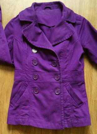 Хлопковое пальто, пиджак, жакет двубортный на пуговицах H&M