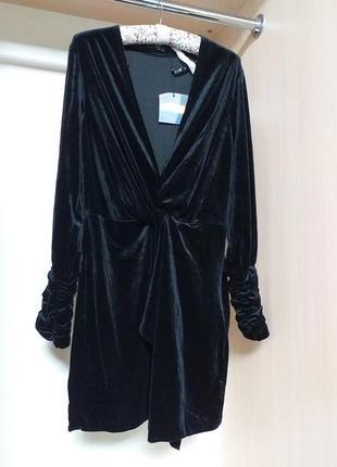 Платье из бархата велюра
