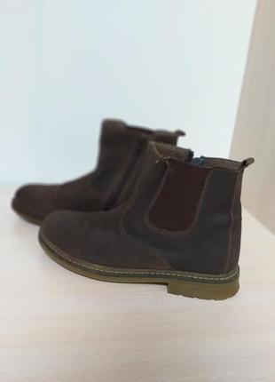 Натуральные кожаные женские ботинки челси с мехом