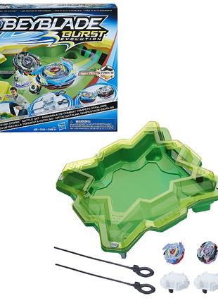 Бейблейд Арена зеленая Beyblade Burst Hasbro Волтраек V3 Сатомб S