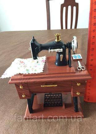 Шкатулка музыкальная Швейная машинка