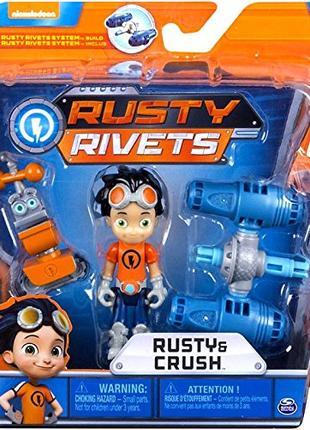 Игровой набор Rusty Rivets Расти Механик и Краш Rusty and Crush