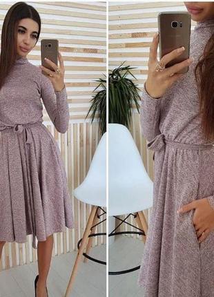 Теплое платье гольф куколка ангора с карманами + пояс, платье ...