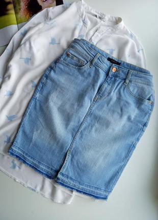 Стильна джинсова юбка 38 р.