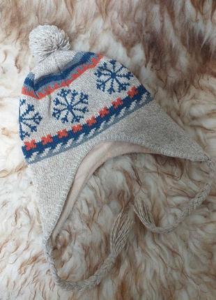 Теплая зимняя шапка. подарок