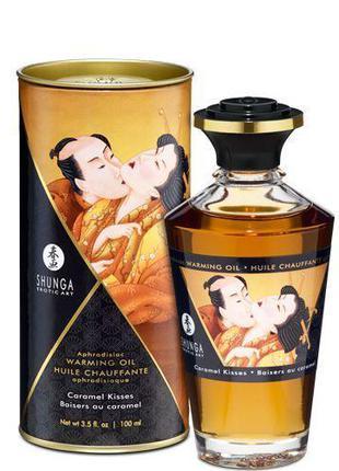 Разогревающее масло Shunga APHRODISIAC WARMING OIL - Caramel K...