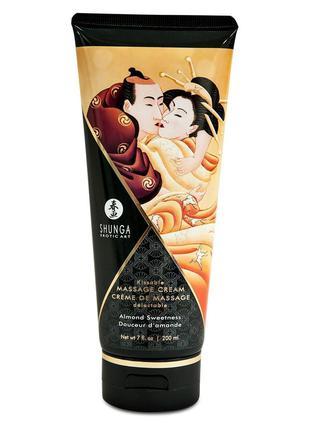 Съедобный массажный крем Shunga KISSABLE MASSAGE CREAM - Almon...