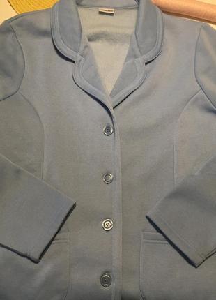 Утеплённый на байке пиджак небесно-голубого цвета англия