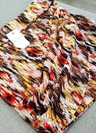 Разноцветная мини юбка pull and bear