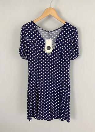 Новое, летнее платье cardo из штапеля темно-синего цвета в гор...