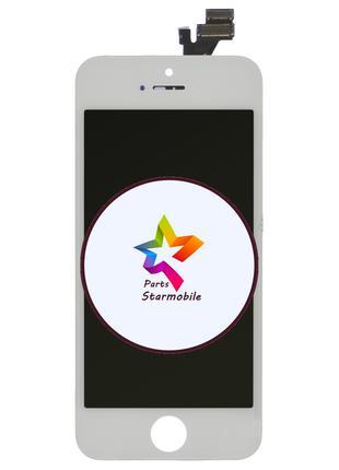 Дисплей iPhone 5 + сенсор белый (оригинальные комплектующие)